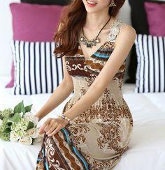 Bohemian Lace Trim Maxi Dress