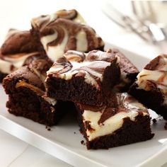 Cheesecake brownies recipe. For the full recipe and more, click the picture or visit RedOnline.co.uk
