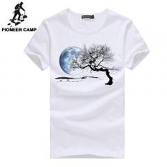 784bb546a874c   44% OFF   Pioneercamp Brand Clothing New 2017 Men T Shirt Print Pattern  Adolescent s