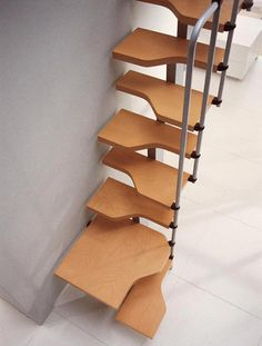Clean simple space saving staircase design - To connect with us, and our community of people from Australia and around the world, learning how to live large in small places, visit us at www.Facebook.com/TinyHousesAustralia or at www.tumblr.com/blog/tinyhousesaustralia