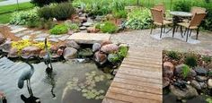 DIY pond filter design ideas will be very useful to people who want to have a garden pond or a koi pond and enjoy their water feature. A garden pond Outdoor Ponds, Ponds Backyard, Koi Pond Design, Garden Design, Pond Waterfall, Pond Landscaping, Landscaping Design, Backyard Water Feature, Water Features In The Garden