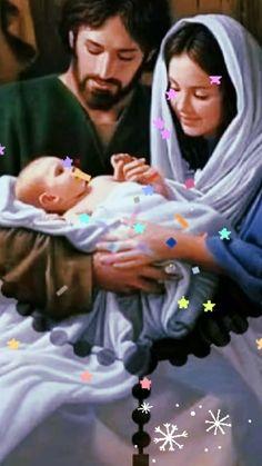 Merry Christmas Gif, Merry Christmas Pictures, Christmas Messages, Christmas Scenes, Jesus And Mary Pictures, Mother Mary Images, Angel Pictures, Happy Birthday Wishes Photos, Happy Birthday Celebration