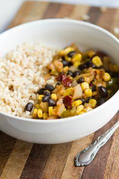 Chipotle Black Bean, Corn, and Rice Bowl