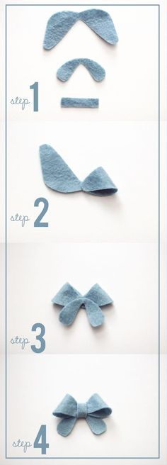 Bows for the baby - clips and headband craft project for the shower~ simple and petite felt bows at kiki and company with free template! Felt Diy, Felt Crafts, Fabric Crafts, Sewing Crafts, Sewing Projects, Kids Crafts, Felt Flowers, Fabric Flowers, Felt Flower Wreaths