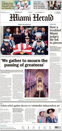 Miami Herald ( Sunday September 2 2018) #news #newspaper Miami, Fall To Pieces, Herald News, September 2, Cuba Travel, How To Know, Newspaper, Sunday, Pdf