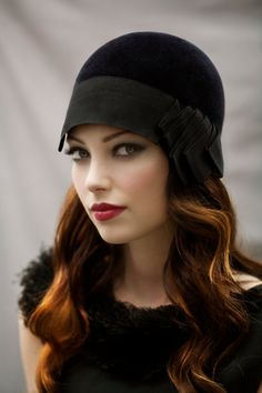 Cloche City Riding Hat - Great Gatsby Style