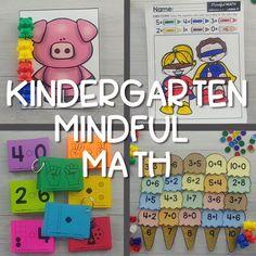 Mindful Math Curriculum for Kindergarten Numbers Kindergarten, Subtraction Kindergarten, Patterning Kindergarten, Math Numbers, Writing Numbers, Primary Maths Games, Math Activities, Math Games, Math Lesson Plans