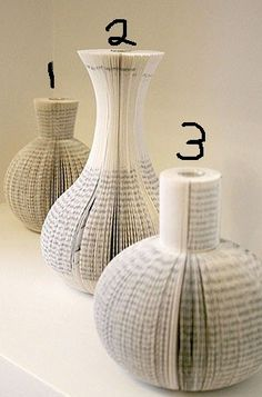 Recycled Book Vases