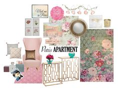 """""""Single girl in Paris"""" by jennross76 ❤ liked on Polyvore featuring interior, interiors, interior design, casa, home decor, interior decorating, Fatboy, House Doctor, Tom Dixon e The Rug Market"""