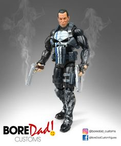Thin Blue Line Punisher (Marvel Legends) Custom Action Figure