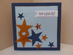 Male stars card using a dry embossing technique with dies - my commission for Die-Cutting Essentials magazine