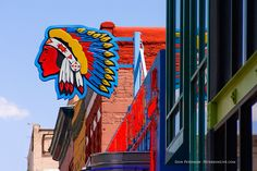 Indian Head Signage, Route 66, Albuquerque, New Mexico