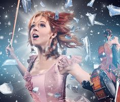 """This was album art we did for Lindsey Stirling's album """"Shatter Me"""""""