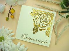 wzory zaproszeń ślubnych z kolekcji róża wzór 30