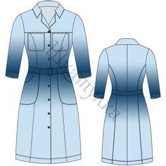 Выкройка платья-сафари