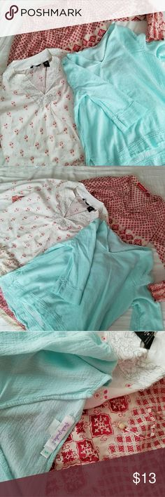 THREE tunic style shirts Flowy, lightweight tunics from various stores. New York & Co, Fresh Produce, and Gloria Vanderbilt. Size S and M. Tops Tunics