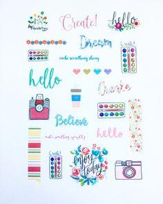 Artsy Sampler Sticker Sheet