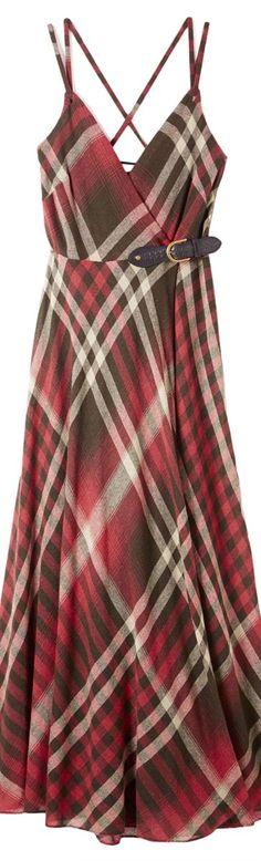 Adore this plaid dress