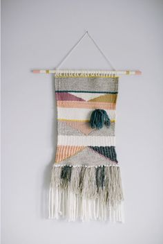 FOR SALE: Handmade Weaving Wall Hanging Woven by ArneriDesign