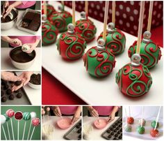 Holiday Ornament Cake Pop, fabulous holiday treat you will love.