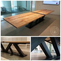 Few more of the custom 14' maple and steel conference table. Contact us for your custom build!  IndustrialReclaim.com  #industrialfurniture #conferencetable #modernoffice #modernfurniture #design #art #handmade #decor #vintage #vintageindustrial #industrial #artofchi #creative #steel #metal #metalwork #welding #industrialdesign #interiordesigner #interiordesign #modern #moderndesign #industrial #modernindustrial #chicago #chicagostyle #Chicagoartist #Chicagoart #insta_chicago #chicagogram