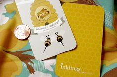 "Which will it ""bee""? A super cute scratch-off gender reveal card lets everyone in on the big news!"