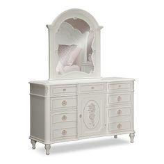 Bouquet White Kids Furniture Dresser Vanity Value City