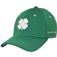 Black Clover Premium Fitted Cap - White Clover on Green (PC 58) - Size 5df0283f3ce2