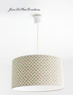lampes avec rev/êtement en tissu color/é noir Produit fabriqu/é en Italie Fil /électrique tress/é abat-jours section 2 x 0,75/mm,/pour lustres style vintage design