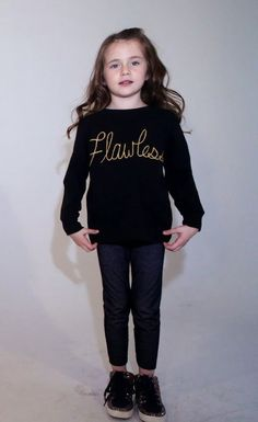 Toddler Flawless Long Sleeve Tee by WearthePaint on Etsy