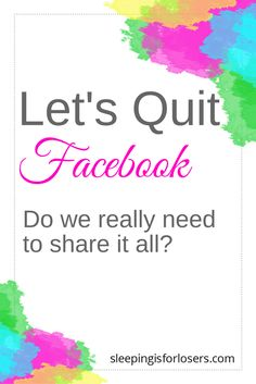 Is Facebook really worth all the stress it creates? Quit Facebook, Quitting Social Media, Family Budget, I Quit, Self Talk, Mindfulness Meditation, Business Website, New Kids, Blogging For Beginners