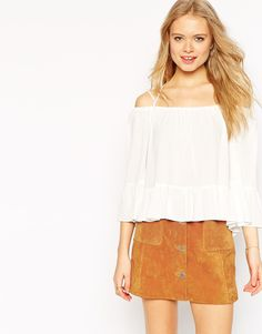 ASOS+Off+the+Shoulder+Casual+Top