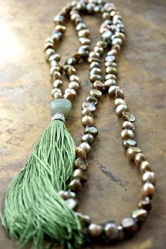 monicaexclusive 108 Mala Bead Necklace Wind Shadow Rose Quartz Hand Knotted Necklace Meditation Mala Necklaces