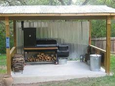 Cooking outdoors at Outdoor Kitchen brings a different sensation. We can use our patio / backyard space to build outdoor kitchen. Outdoor kitchen u. Pit Bbq, Backyard Bbq Pit, Outdoor Kitchen Bars, Outdoor Kitchen Design, Outdoor Bars, Outdoor Kitchens, Grill Diy, Bbq Diy, Diy Bbq Area