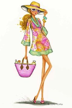 Illustration by Bella Pilar Art And Illustration, Foto Fashion, Fashion Art, Girl Fashion, Fashion Design, Italy Fashion, Modelos Fashion, Fashion Sketches, Fashion Illustrations