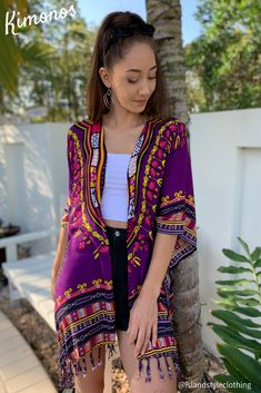 Ladies Kimono African Dashiki Print... gorgeous print in soft rayon for casual wear or beach cover-up. Other colours available. #kimono #coverup #beachcoverup #dashiki #dashikiprint #dashikicoverup #africanprint #african #africankimono #dashikikimono #beachwear #cruise #casual #fashion