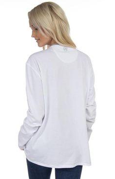 White w/ Grey Collar - Pop Collar Tee Back