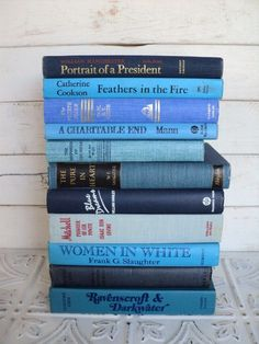 blue books.  This makes me want to go to a used book store to do this... And other colors.  Love it!