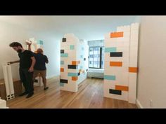 EverBlock Apartment Divider Wall Time Lapse - YouTube
