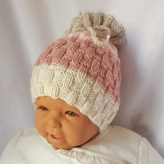 Easy Crochet Hat, Chunky Crochet, Crochet Beanie, Easy Knitting, Knitted Hats, Baby Cocoon Pattern, Baby Hat Patterns, Knitting Patterns, Make And Do Crew