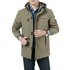 Sale 21% (57.55$) - Mens Casual Outdoor Sport Hoodies Trench Coat Windproof Waterproof Coat