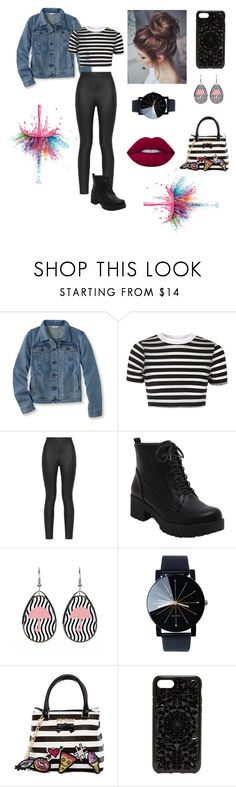 """Untitled #62"" by mackenzie-fp on Polyvore featuring L.L.Bean, Topshop, Armani Jeans, Betsey Johnson, Felony Case, Lime Crime and Givenchy"