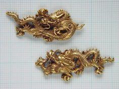 Pair of dragon menuki