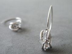 Herkimer Diamonds Earrings Sterling Silver Dangle Earrings Zen Jewelry by SteamyLab by SteamyLab on Etsy https://www.etsy.com/listing/176674061/herkimer-diamonds-earrings-sterling