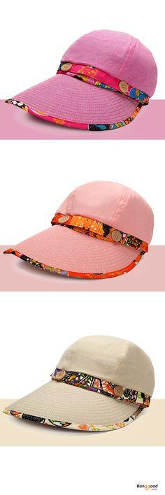 Women Foldable Summer UV Protection Beach Sunscreen Sun Hat Outdoor  Gardening Visor Cap. Color Pink 98b7458622e7