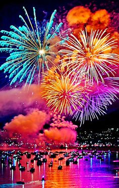 Sydney, Australia New Year Fireworks. Each year our fireworks get better and more extravagant. We have a show at 9:00pm for the younger children and then the midnight show which is glorious.  New Zealand starts off first because they r 2 hrs ahead but the Sydney show is considered to be the first to ring in the new year.