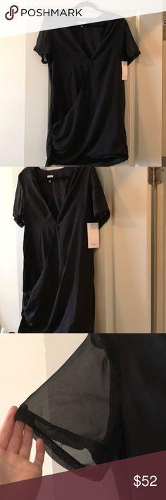 NWT TOBI Black Skater Dress Semi Deep Vneck skater dress 100% Polyester. I'm open to all offers :) Tobi Dresses Mini