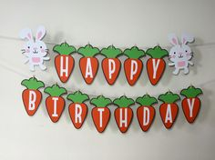 Happy Birthday Some Bunny Banner Some Bunny Is by EricasCrafties