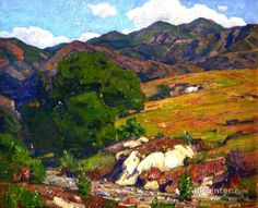 William Wendt Up In The Mountains oil painting reproductions for sale