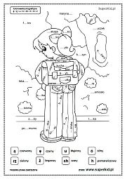 kolorowanka ortograficzna Aga, Bart Simpson, Fictional Characters, Fantasy Characters